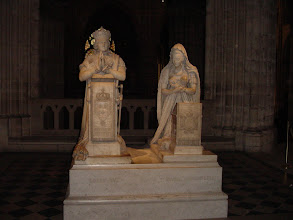 Photo: Here, a memorial in marble to Louis XVI and Marie Antoinette.