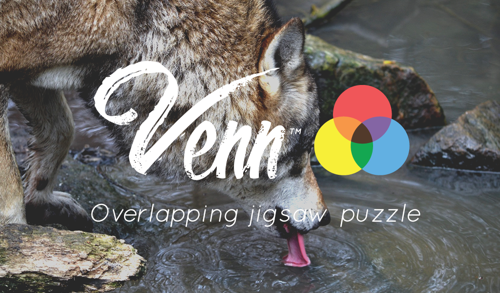 Venn Wolves: Circle Jigsaw- screenshot