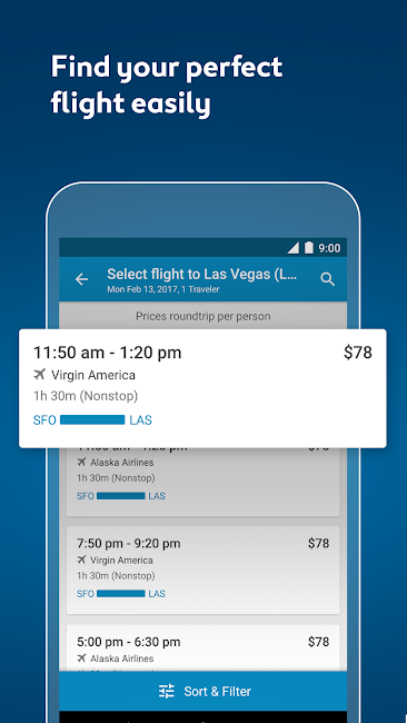 #4. Expedia Hotels, Flights & Cars (Android)