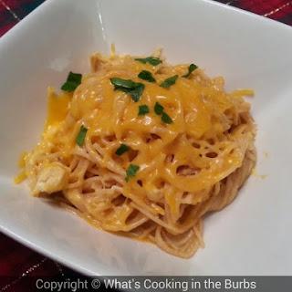 Creamy Crock Pot Cheddar Chicken Spaghetti Recipe