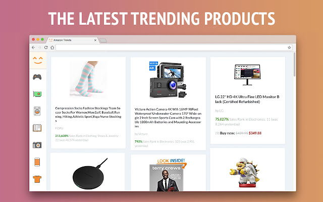 Amazon Trends - daily deals new tab theme