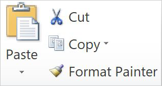 Cut, copy, paste, and use the Format Painter in 2010 and 2013 versions