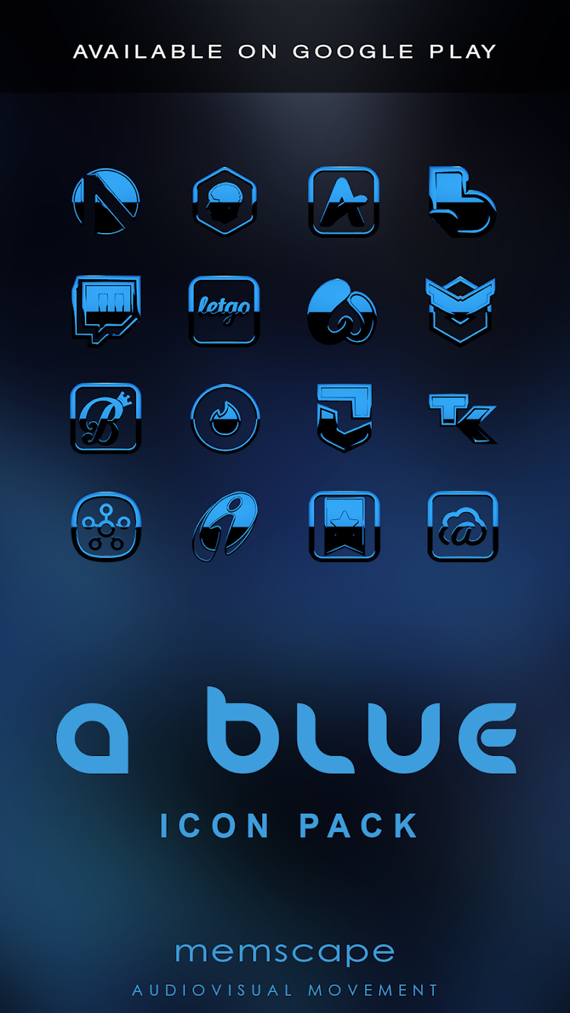 A-BLUE Smart Launcher Theme Screenshot 6
