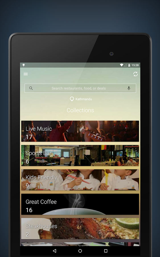 Yellow App : Restaurants App- screenshot