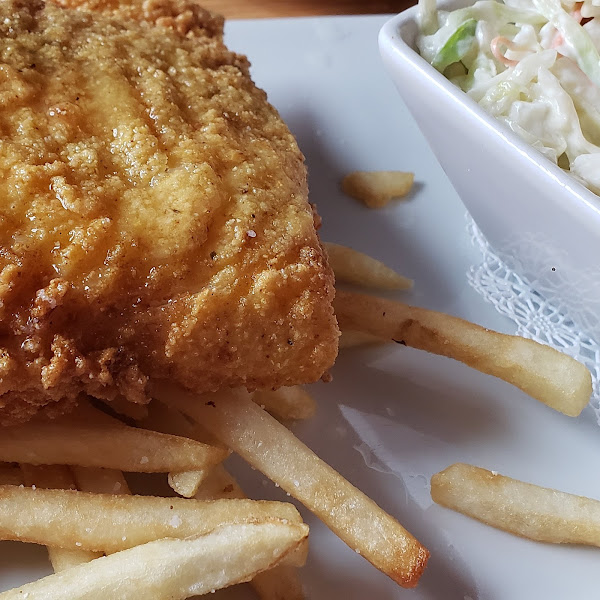 Gluten free fried haddock