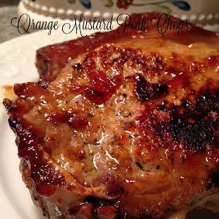 Orange Mustard Pork Chops.