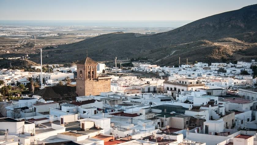Imagen de archivo de una vista aérea de Níjar.