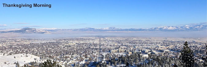 Photo: View of Helena on Thanksgiving Day 2015 - The day before our Stemple to Flesher hike.