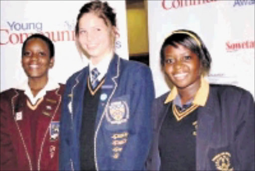 YOUNG ORATORS: Mulalo Mammburu of Louis Trichardt High School, Leandre Buys of Merensky High School and Elizabeth Ndou of Thenwe High School. PHOTO: CHESTER MAKANA. circa  May 2009. © Sowetan.