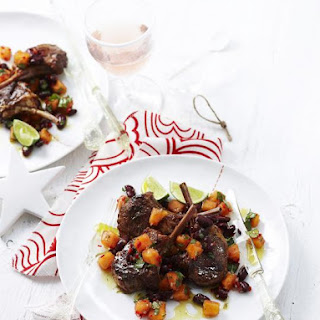 Lamb Chops with Papaya Mojo Sauce