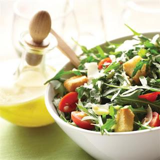 Arugula Salad with Lemon-Garlic Dressing.