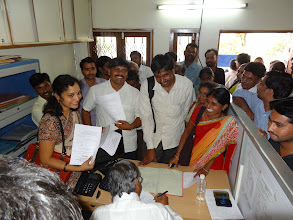 Photo: Nominations day at Office of DEO-GHMC