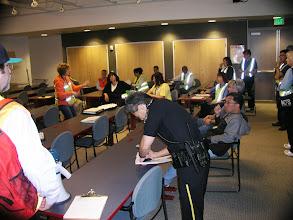 Photo: Pre-drill meeting