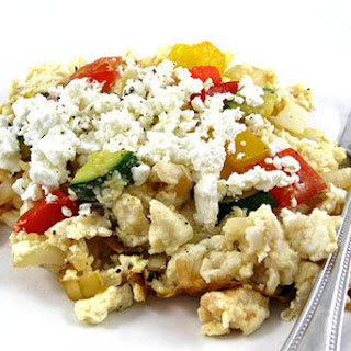 Skinny Mediterranean Egg Scramble.