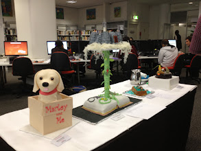 Photo: The entries to the Edible Book competition in celebration of Library and Information Week