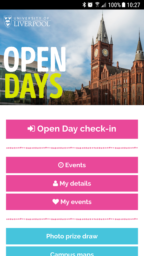 Open Days- screenshot
