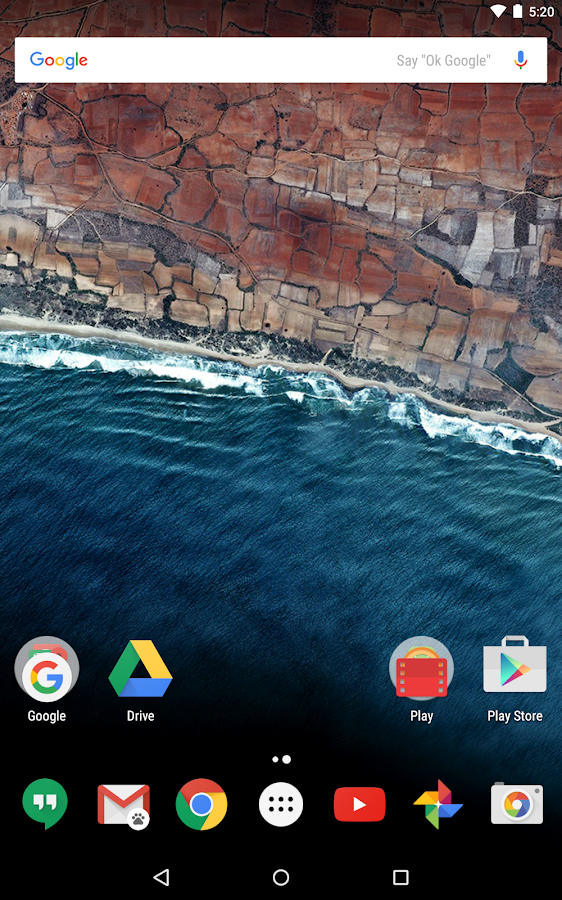 Google Now Launcher: captura de tela