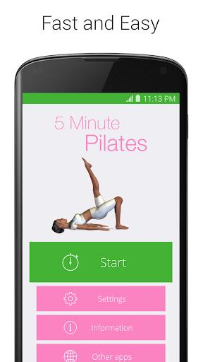 5 Minute Pilates screenshot 1