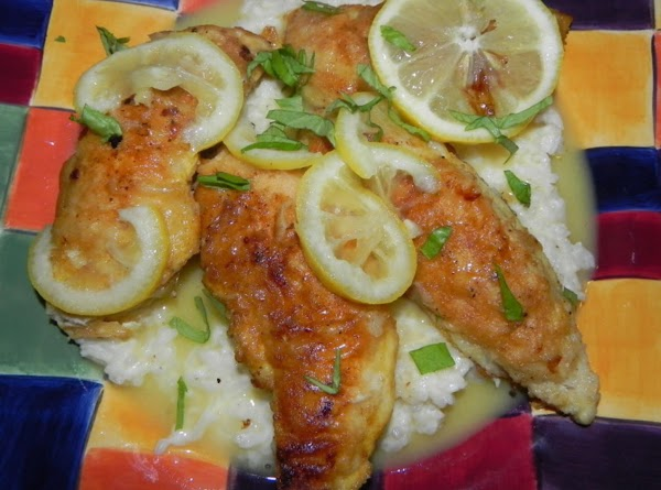 Heat 2 tbsp. of cooking oil in a frying pan. Take your chicken and...