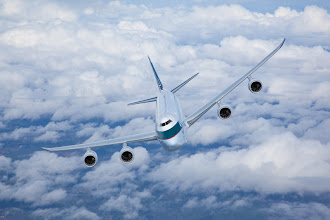 Photo: Cathay Pacific 747-8f air to air