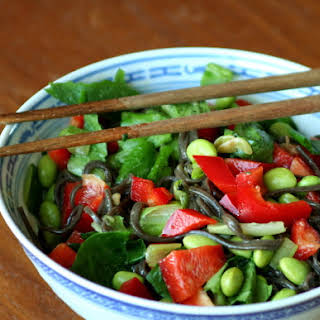 Soba Salad with Miso Dressing.