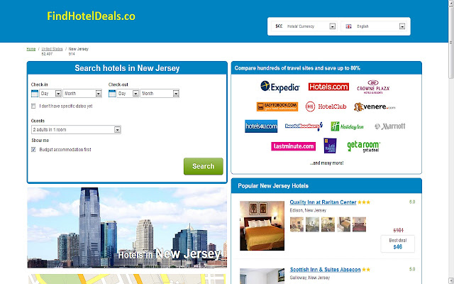 New Jersey cheap hotels close to New York