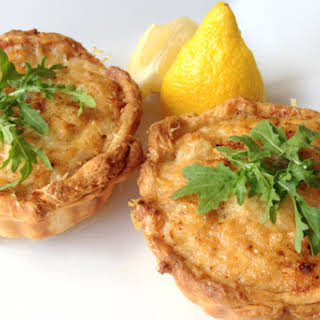 Blue Swimmer crab tarts.