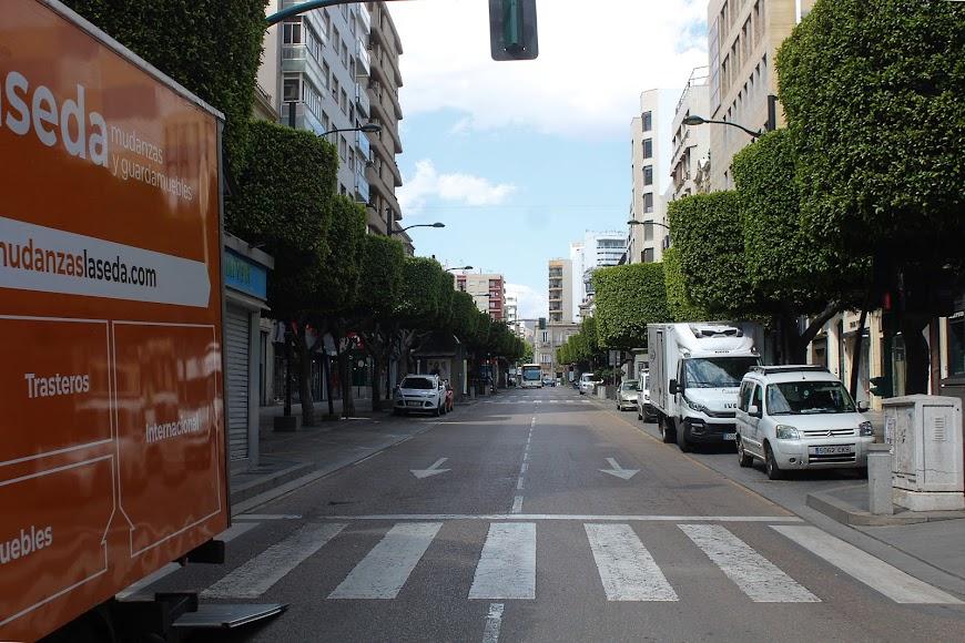 Parte alta del Paseo de Almería.