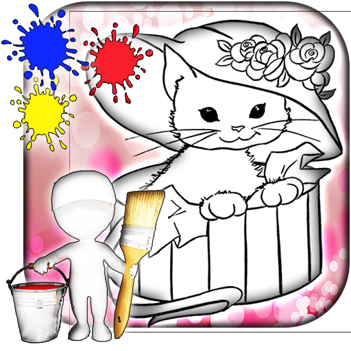 Kitty Coloring Games 遊戲 App LOGO-硬是要APP
