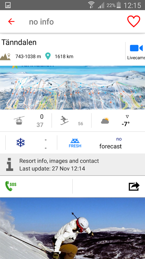 iSKI Sverige - Ski, Snow, Info resort, Gps Tracker- screenshot