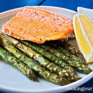 Roasted Asparagus With Trout.