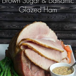 Brown Sugar and Balsamic Glazed Ham.