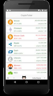 CryptoTicker - náhled