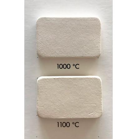 Lergodslera vit med chamotte/RAKU - 1000-1140°C