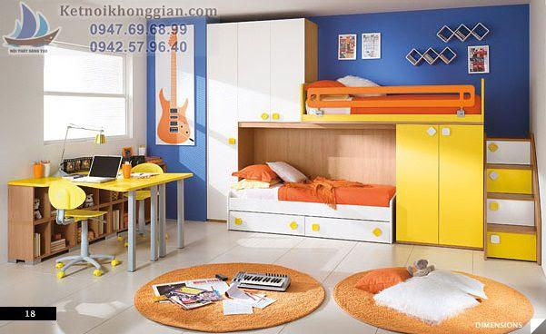 thiết kế phòng ngủ bé trai kín gió yên tĩnh