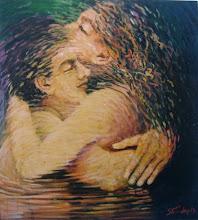 """Photo: """"A Gruta"""". Acrílica/duratex, 136,5 x 121,5 cm, 1998, Mossoró, Rio Grande do Norte, Brasil. Coleção particular."""