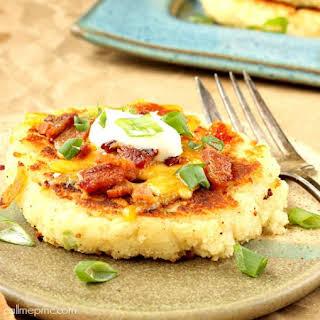 Mashed Parmesan Potato Cakes.