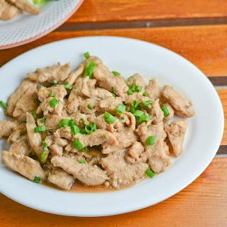 Stir Fried Chicken Strips with Garlic Sauce Recipe