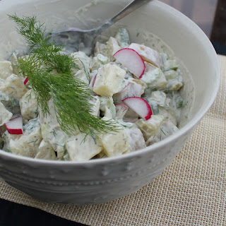 Creamy Dijon Dill Potato Salad.