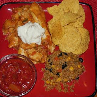 Easy Weeknight Chicken Enchiladas