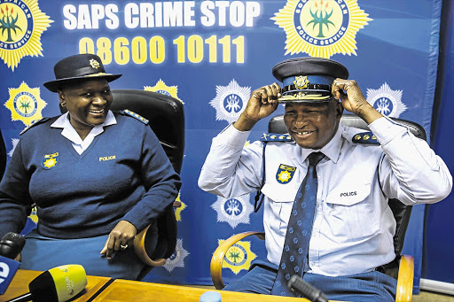 National police boss Riah Phiyega congratulates Lieutenant-General Lesetja Mothiba on his appointment as Gauteng's new provincial commissioner. Mothiba has been redeployed to a new management intervention unit in the SA Police Service's head office, the Hawks confirmed on Saturday 16 January 2016.
