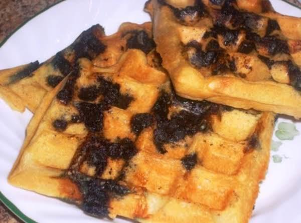 Gluten Free Blueberry Belgium Waffles