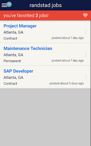 Randstad Jobs Screenshot