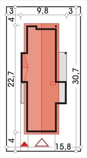 Dakota wersja B z garażem - Sytuacja
