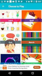 Drinks - Learn, Spell, Quiz, Draw, Color and Games - náhled