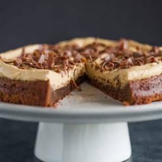 Brownie Cake with Speculoos Cookie Butter Frosting.