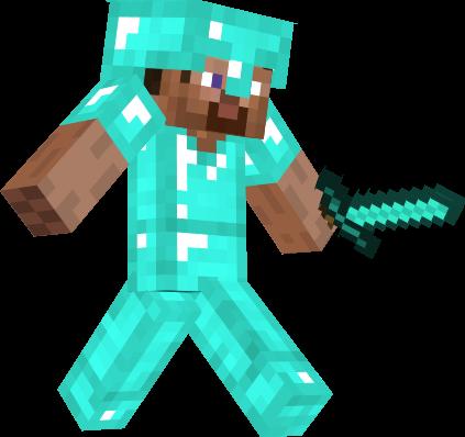 Steve with diamond armor
