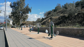 El nuevo parque biosaludable de Abla, situado en un margen de la Carretera de Almería.