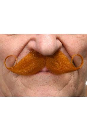Mustasch Poirot, röd