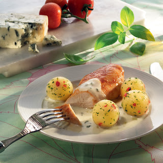Hähnchenbrustfilet mit Gorgonzolasoße